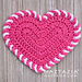 Light Heart Dishcloth pattern