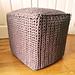 Chunky Cube Pouf pattern