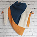 Color-Block the Cold Triangle Scarf pattern