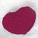 Chunky Heart Shaped Pillow pattern