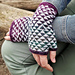 Disrupted Triangle Mitts pattern