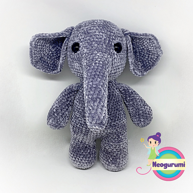 Crochet Elephant Amigurumi Easy Video Instructions   640x640