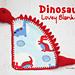 Dinosaur Lovey Blanket pattern