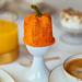 Cute pumpkin egg cozy pattern