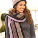 125-32 b - Frosting scarf pattern