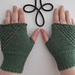 Up and Down fingerless mitts pattern