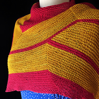 Ravelry: Wonder Woman Wrap (knit) pattern by Carissa Browning