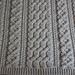 Large Bulky Braemar Blanket pattern
