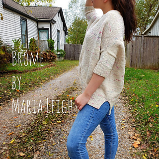 side view of size S Brome sweater