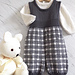 Baby Tartan Overalls and Jumper P056 pattern