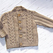 Sweater with cables and Rib Sleeves pattern
