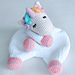 Sleepy Unicorn Comforter pattern