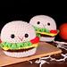 No-Sew Hamburger Amigurumi pattern