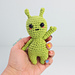 Allen the Alien Amigurumi pattern