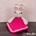 Olivia the Bunny Lovey Security Blanket pattern