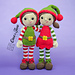 Jingle and Belle Amigurumi pattern