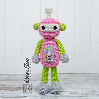 Robby the Robot Lovey and Amigurumi Crochet Patterns Pack | 320x320