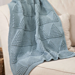 Blue mountains blanket pattern
