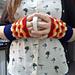 Granny Square Stripes Fingerless Gloves pattern