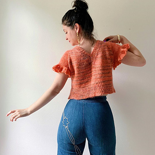 Flutter Sleeve Option with no waist shaping.