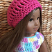 Simple Slouch Hat for 18 inch doll pattern