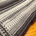 Textured Ombre Crochet Blanket pattern