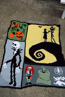 Nightmare Before Christmas Crochet Blanket.Ravelry Pazscott S Nightmare Before Christmas Afghan