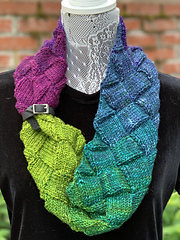 DK Gradient, with Tiny Shawl Belt by purlandhank.com