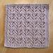 Garden rows dishcloth / Lavette Rangs de jardin pattern