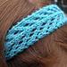 Arrowhead Lace Headband pattern