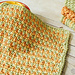 Three Color Simple Stitch Dishcloth pattern
