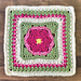Dahlia Bloom Afghan Square pattern