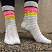 Colourful Geometry Socks pattern
