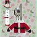 Santas jacket cutlery holder pattern