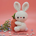 amigurmi keychain rabbit pattern
