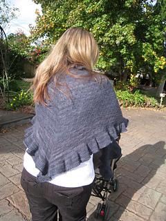 shopping shawl back side