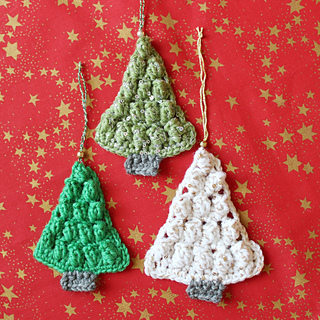 Christmas tree shaped tree decorations