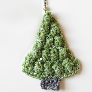 Christmas tree with glitter yarn