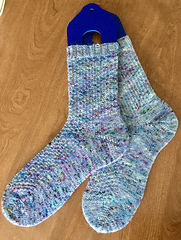 After washing and blocking. The color is pretty close in this picture.