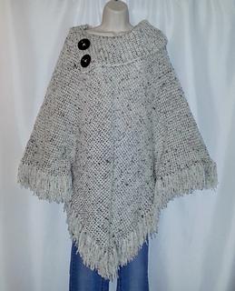 cowl neck poncho crochet pattern free