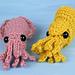 Baby Cephalopods 2: Cuttlefish & Nautilus pattern