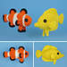 Tropical Fish Set 1 pattern