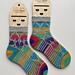 Confetti Hearts Socks pattern