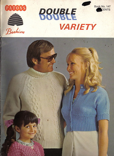 Patons Double Variety  Patons 147  Family knit and crochet pattern book