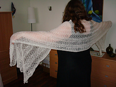 White long shawl