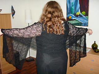 Black long shawl