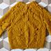 """Rhombus and False Daphne Leaves"" pattern cardigan pattern"