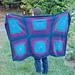 Round Squares Blanket pattern
