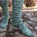 Tilled Row Socks pattern