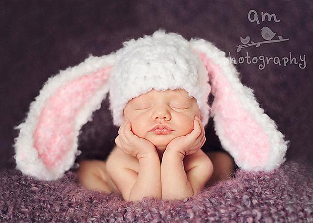 Bunny Rabbit Floppy Ears Hat Crochet Pattern Child Toddler Bunny Rabbit Floppy Ears Flower Hat Cap Crochet Pattern PDF Instant Download